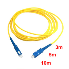 SC to SC Fiber Patch Cord Jumper Cable SM Simplex Single Mode Optic for Network 3m 5m 10m 10ft 16ft 33ft(China)