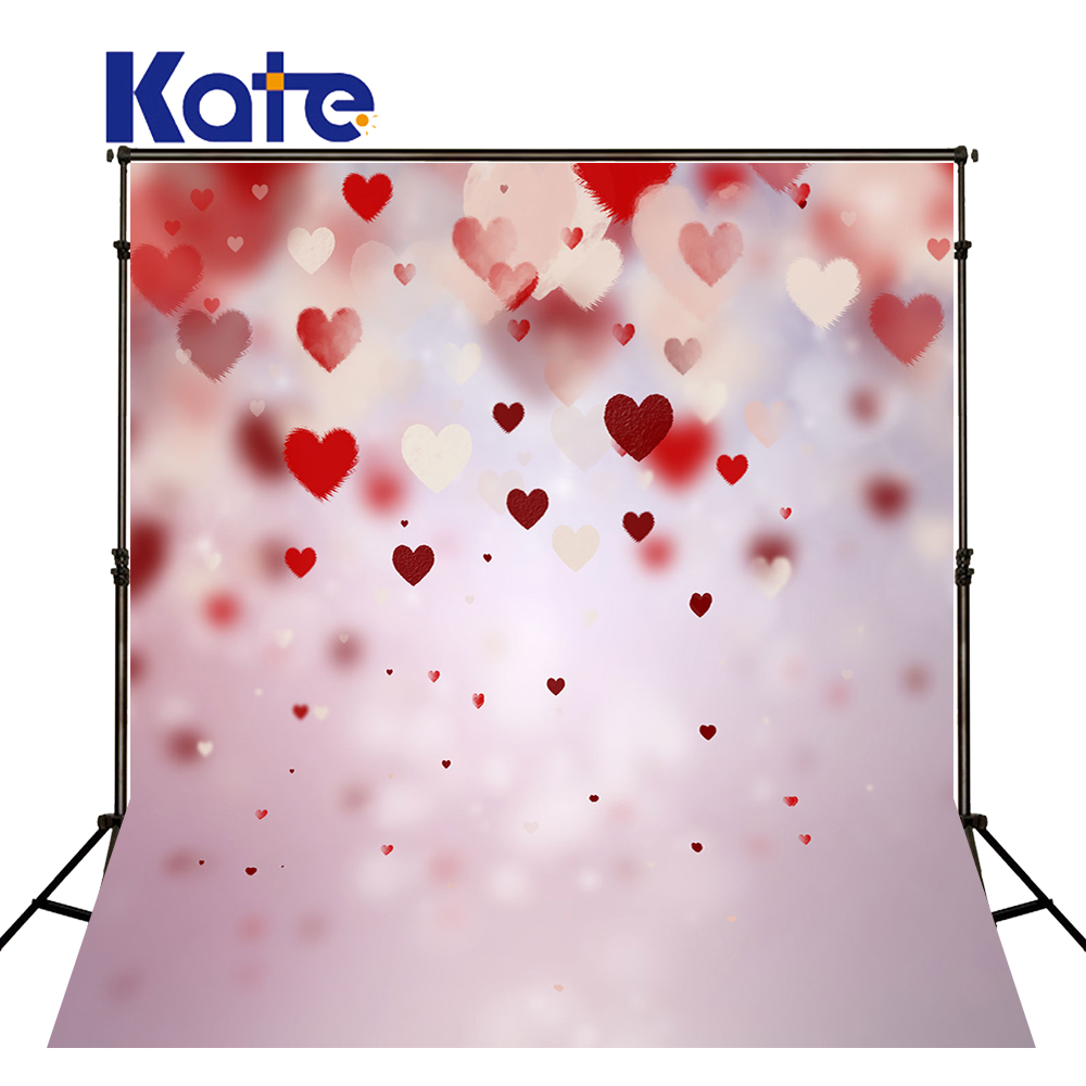 5*6.5Ft Kate  Backdrops Vinilos  Love Bright Backgrounds Thick Cloth Backdrops  Photography Fondos For ValentineS Day Mr-0048<br>