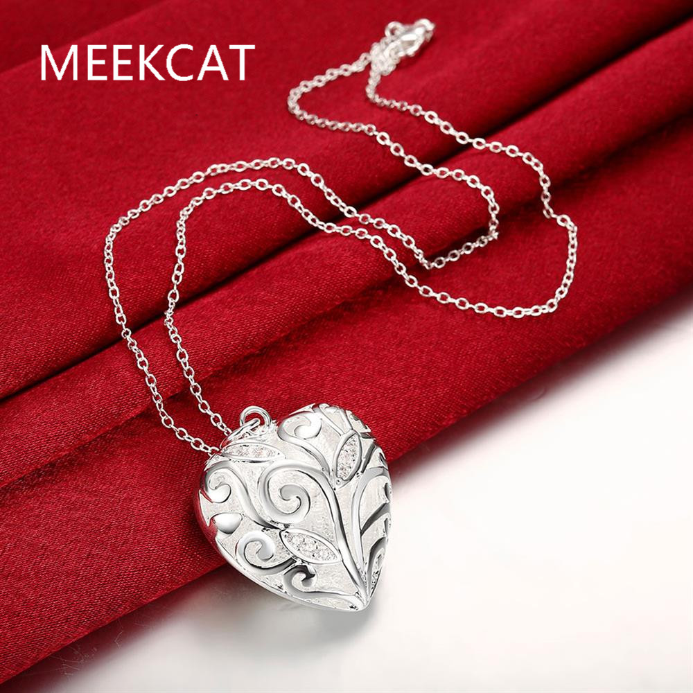 Online get cheap stamped pendants wholesale aliexpress wholesale 925 stamped silver plated peach heart pendant necklacetree of life pendants necklace colar mozeypictures