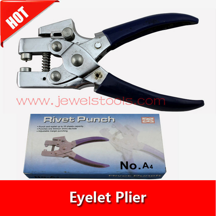 2015 new Eyelet Punching Plier,Jewelry Making Plier (2-5mm dia hole),Punch and eyelet up to 25 sheets capacity<br><br>Aliexpress