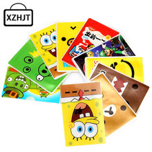 Cute Cartoon Card Holder Girl Sponge Bob Domo Kun Rilakkuma PVC Bus Car Ic Card Business Credit Card Cover Card Case(China)