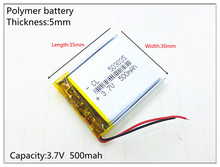 Liter energy battery 3.7V lithium polymer battery 503035 500MAH MP3 MP4 MP5 GPS SD recorder