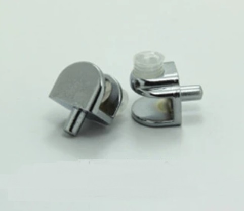 200pcs lot glass shelf support clamps studs pin 5mm nickel plate rh aliexpress com wall clips for glass shelves wall clips for glass shelves