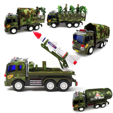 5styles Military Chariot Truck Tractor Car War Vehicle Diecasts Inertial Sliding Toy Vehicles Model Cars China Gift For Children