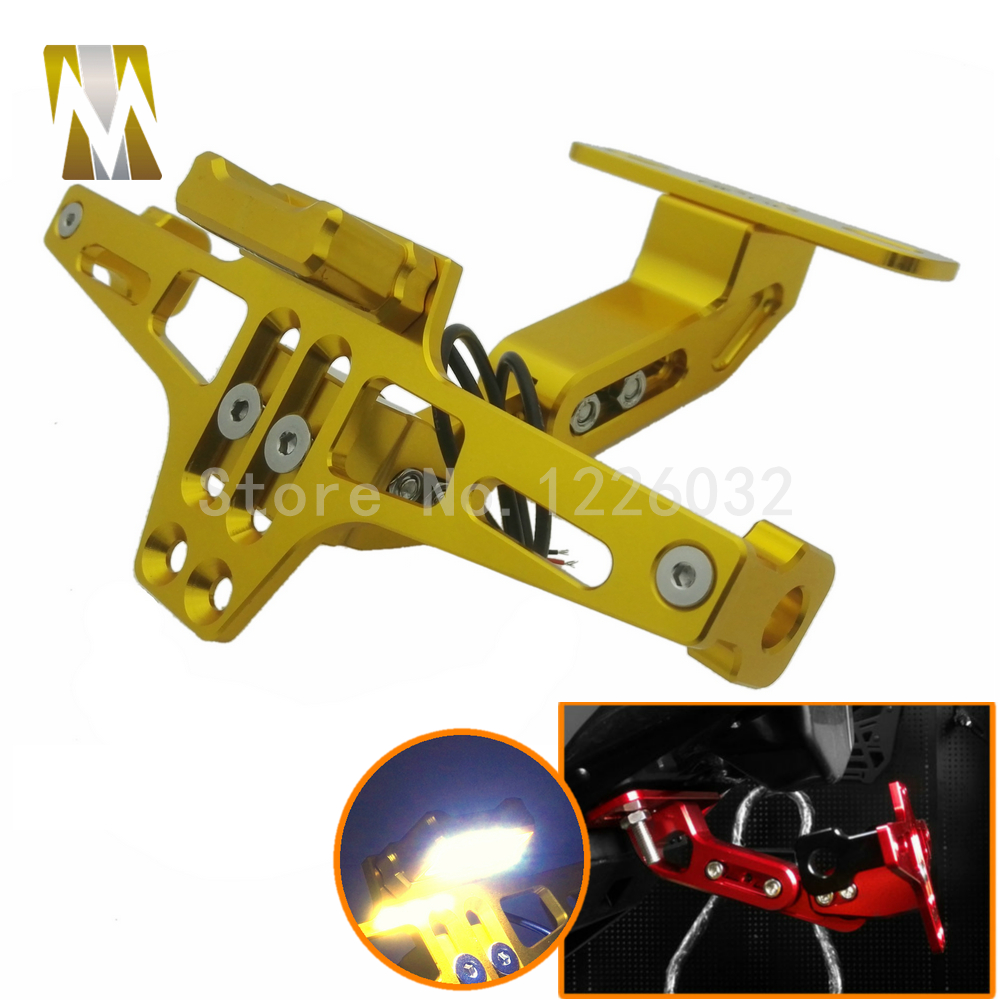 Motorcycle Adjustable Angle License Number Plate Frame Holder Bracket led sport bike tail lights For Honda Kawasaki Harley BMW<br><br>Aliexpress
