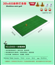 Playeagle Indoor Mini Golf Hitting Mat for Golf Swing Training Putting Mat with Rubber Tee Holder 30*60cm