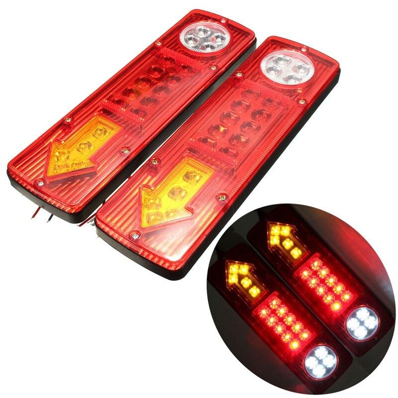 2x 12V 19 LED Trailer Truck Rear Tail Brake Stop Rear Reverse Auto Turn Light Indicator Reverse Lamp Turn Signal Lamp<br><br>Aliexpress