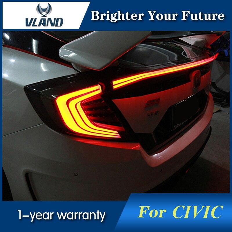 3Pcs For Honda Civic 2015-2018 Tail Lamp Rear Ligh...