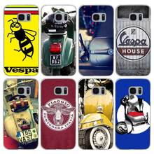 H345 Vespa Scooter Transparent Hard PC Case Cover For Samsung Galaxy S 3 4 5 6 7 8 Mini Edge Plus Note 3 4 5