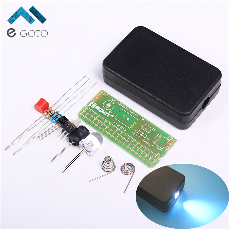 DIY Kits 1.5V Flashing Lights Kit Soldering Practice Circuit Board Universal Flashlight Plate Electronic Manufacturing Parts(China (Mainland))