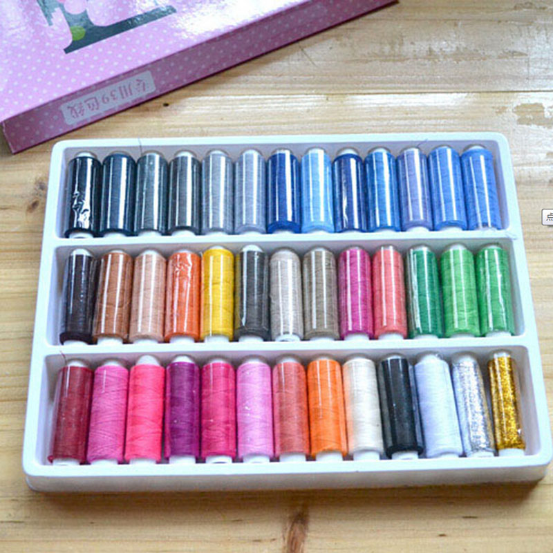 39 Pcs/Set  Colorful Sewing Thread Spolyester Thread Strong And Durable Sewing Threads For Hand Machines