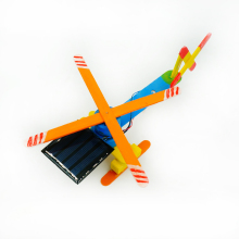 DIY Solar Power Helicopter Aircraft Wooden Model Building Kit Block Montessori Educational Toy Assembly for Science Novelty Gag