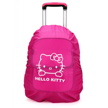 1Pcs.Kawaii Cartoon Kitty Cat Nylon Waterproof Backpack Cover Dust Rain Bag Cover For Travel Camping Hiking Cycling Outdoor(China)