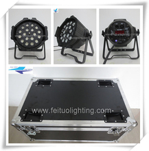 With flight case par lighting marriage decorations led par64 light rgbwa 18x15w 5in1 led zoom par light