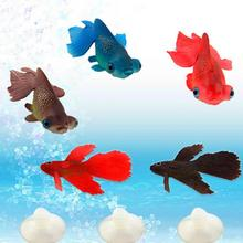 2017 New Glowing Effect Artificial Silicone Soft Sucker Aquarium Pet Goldfish Ornament Fish Tank Betta Fish Decor Glow In Dark(China)