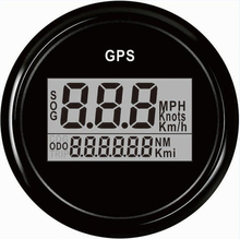 1pc Brand New 52mm GPS Speedometer Automobile Digital GPS Odometers 9-32V for Boat Automobile with Antenna Black and White Color(China)