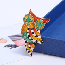 Vintage Colorful Owl Brooch Pin Enamel Animal Brooches For Women Fashion Accessories Jewelry New Arrival(China)