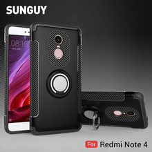 For Xiaomi Redmi Note 4 Case, SUNGUY Car Holder Stand with 360 Finger Ring Prime Shockproof Protective Case PC+TPU Cover Case(China)