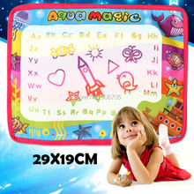 29x19CM Water Drawing Mat With Magic Pen Doodle Painting Picture Water Drawing Play Mat Doodle aqua magnetic drawing board toys