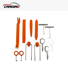 12Pcs/set Vehicle Dash Trim Tool Professional Car Door Panel Audio Dismantle Remove Install Pry Kit Refit Set Repairing Tools(China)