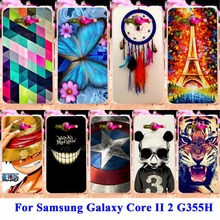 Hard PC Soft TPU Phone Cases For Samsung Galaxy Core II 2 Case G355M core2 duo G355H G355 Housing Covers Skin Shell Hood Bags