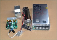 high speed spindle ER11 48V 400W brush air cooled PCB spindle motor power supply mach3 controller seat 1set