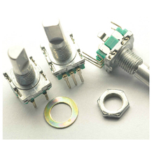 10PCS/Lot EC11 Rotary Encoder Switch Audio/Car digital potentiometer 5Pin handle length 20mm