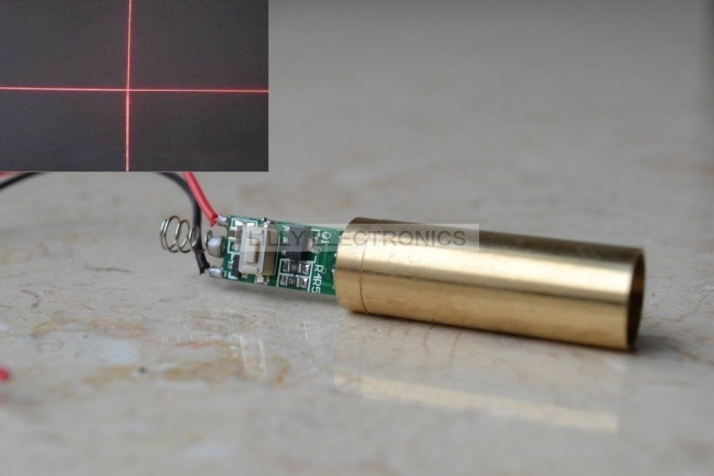NEW 3.0-3.7V 650nm 200mW Red Cross Laser Diode Module<br>