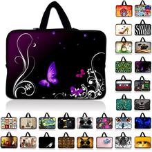 7 10 12 13 13.3 14 15 17 17.3 inch Purple Butterfly laptop bag netbook sleeve case with handle computer notebook cover pouch