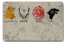 High quality customized Game of Thrones Families 40x60cm door mat carpet Bath mat kitchen mats home decoration