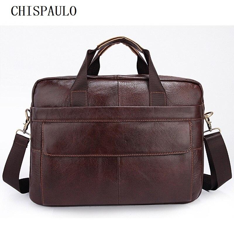 CHISPAULO Genuine Leather Bag Fashion Handbags Cowhide Casual shoulder belt messenger bag Dispatch Travel Tote Bag Vintage  T688<br>