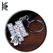 free shipping PS4 GTA 5 Game keychain Grand Theft Auto 5 Keychains fashion jewelry for Men Women Souvenirs