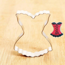 Sexy Lace Dress/underwear Shape Cookie Cutter Mold Stainless Steel Metal Mold Pastry Biscuit Cake Tools Baking Product