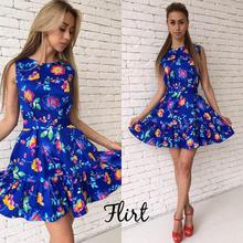 Buy 2018 New Fashion Style Beach Dress Women Casual Print A-line Loose Sleeveless Sashes Ruffles Party Dresses Cute Vestidos for $10.05 in AliExpress store