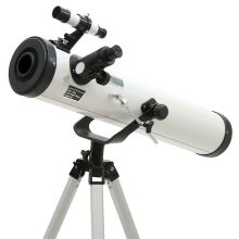 Entry-level 3 inches 76 - 700mm Reflector Newtonian Astronomical Telescope (Black/White)(China)