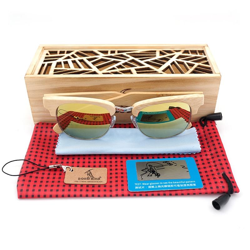 BOBO BIRD Brand Design New Vintage Style Bamboo Wood Sunglasses Women Men Luxury 2017 with Gift oculos de sol feminino Fishing <br><br>Aliexpress