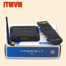 1PC Freesat V7 DVB-S2 HD satellite TV receiver Youtube Power VU CCcam Newcamd Not support IPTV Free Shipping S2