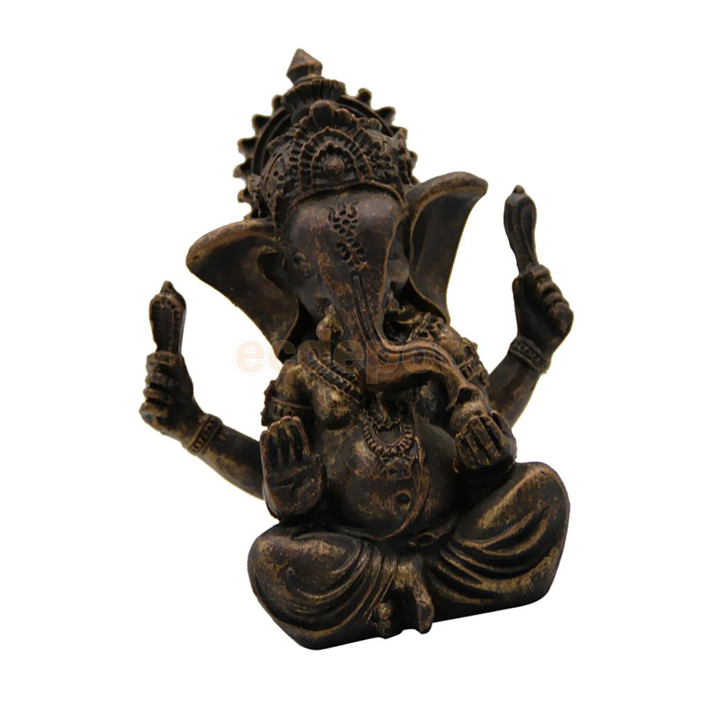 Meditating Ganesha Statue Indian Buddhism Figurine Home Decor