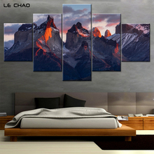 Canvas Painting for Living Room Mountains Painting Print on Canvas Wall Home Decor Bedroom Mosaic Picture Wall Art Drop Shipping(China)