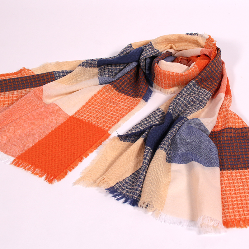 women 100%wool winter scarf extra large2017brand woman winter warm plaid scarf pashmina scarfs lady cashmerewool pashminas scarf