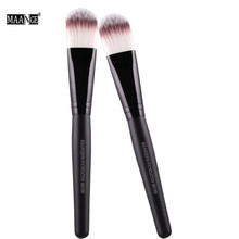 MAANGE 1Pcs Face Makeup Brush Set Powder Wooden Handle Nylon Hair Blush Contour Foundation Tip Brush Cosmetics Beauty Tool Hot