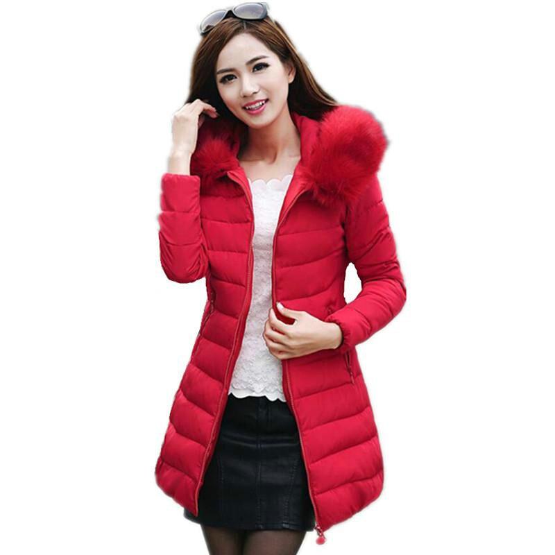 Womens Winter Jackets Coats 2017 Thick Warm Fur Hooded  Padded Parkas Womens Fur Jacket Female  Coat Plus size 4XL 5XLÎäåæäà è àêñåññóàðû<br><br>
