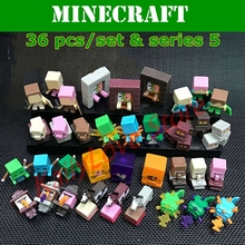 Hot Minecraft Game 36 pcs/set Series 1/2/3/4/5 Mine Word Model Creeper Steve Endman Action Figure Christmas Birthday Party Gift