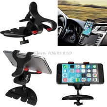 360 Degree Universal Car CD Slot Holder Clip Mount Cradle Stand For Mobile Phones GPS -R179 Drop Shipping