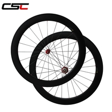 Straight pull 60mm clincher bicycle wheels with powerway R36 carbon hub cn aero 424 spoke from Taiwan factory