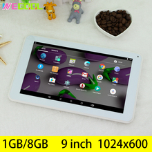 9 inch Tablet PC with 1GB RAM 8GB Storage Display 1024x600 HD Reslution CPU A33 Quad Core Android 5.1 OS Loud speaker film PAD