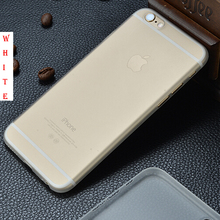 Hot phone sets translucent thin frosted phone case protector case for iphone 6 6s 6plus 6splus case back cover bags