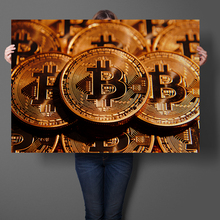 Buy Bitcoin Virtual Currency Wall Art Sticker Art Prints Silk Fabric Cloth Poster Print Wall Art Picture Painting Home Decor for $5.17 in AliExpress store