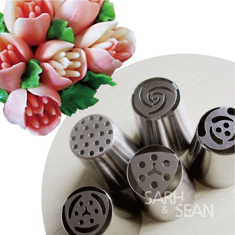 5pcs Lot Metal Stainless Steel Cutters Professional Cake Decorators Russian Pastry Nozzles Piping Tips For