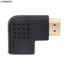 NEW Big promotion Portable 90 Degree Vertical Flat HDMI Male to Female Adapter Drop shipping(China)